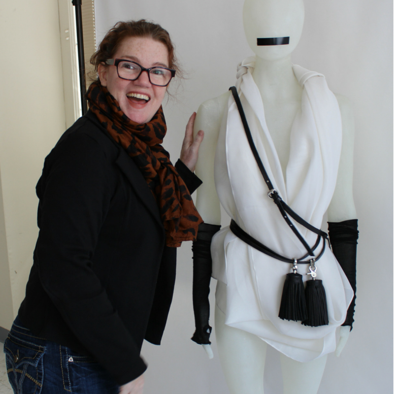 Jane Hamill pic with mannequin
