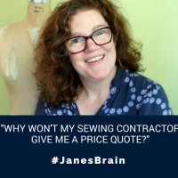 #AskJanesBrain: Why won't my sewing factory give me a price quote?