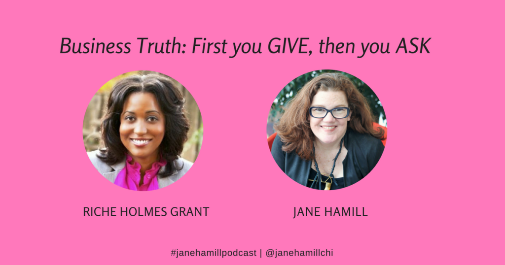 Riche Holmes Grant and Jane Hamill podcast
