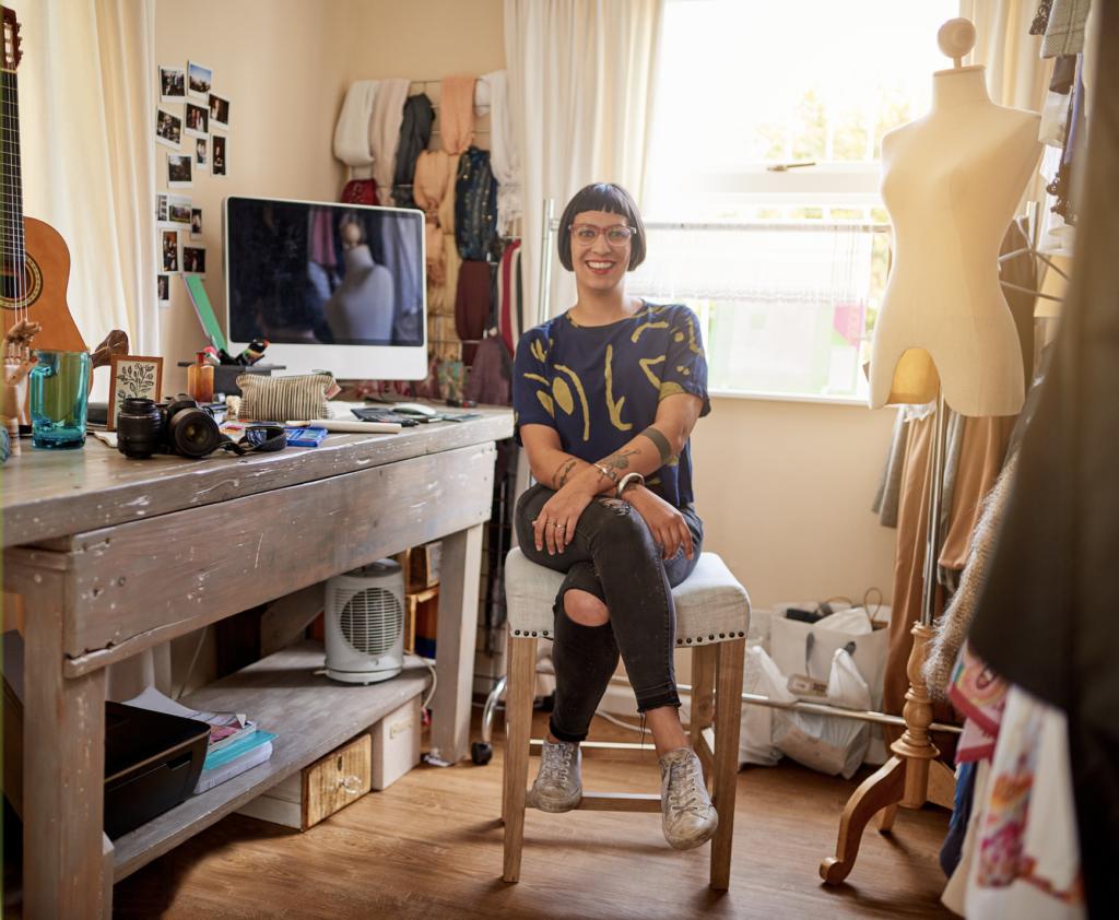 creative business owner in studio