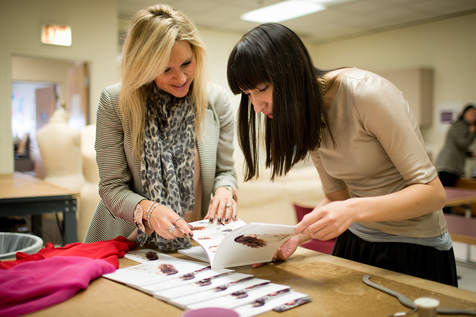 Fashion Designers working with consultant, Jane Hamill