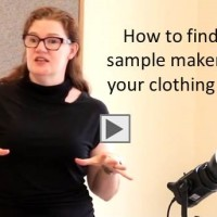 where to find a sample maker for first samples apparel line