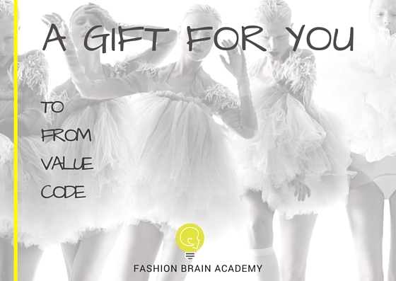 Gift Card for fashion designers