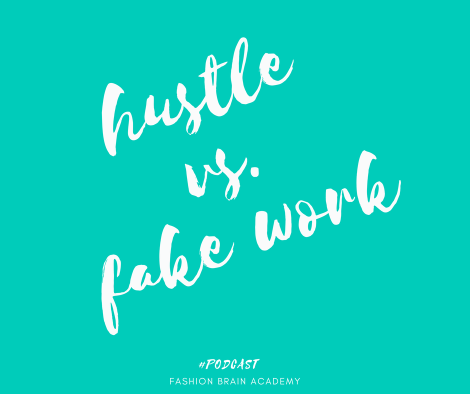 fake work vs. work that makes you money