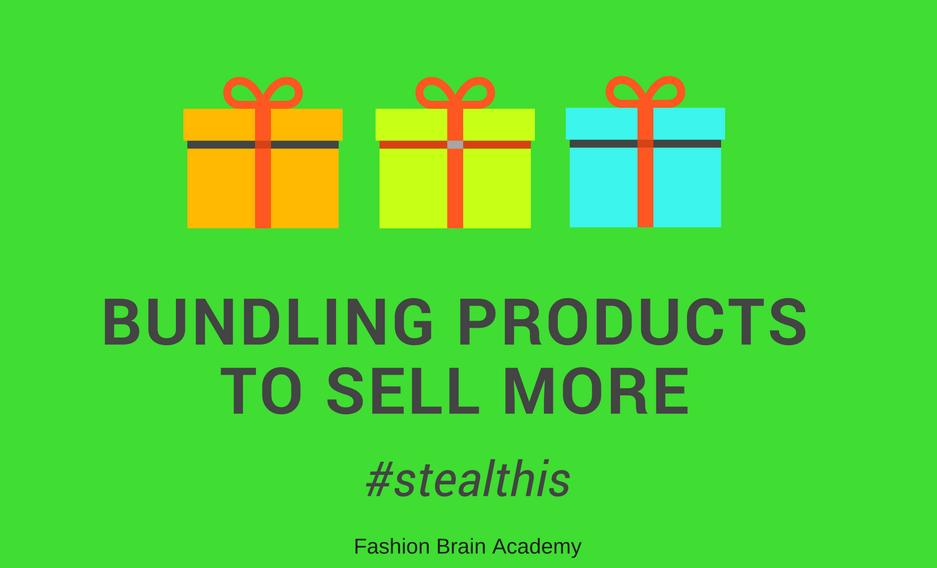 bundling products to increase increase average sale