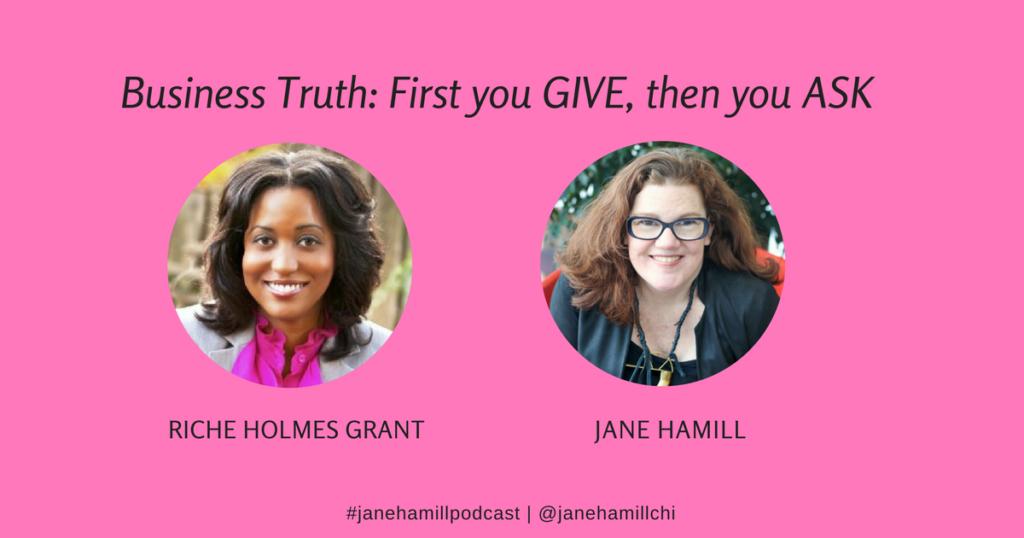 Riche Holmes Grant and Jane Hamill podcast